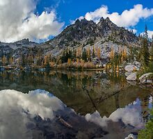 Clear Autumn Lakes Reflection by mikereid