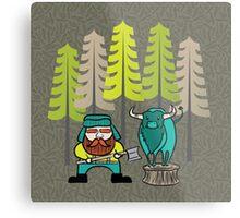 Lumberjack Attack: Paul and Babe Metal Print