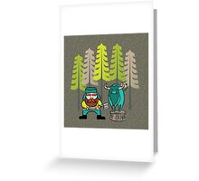 Lumberjack Attack: Paul and Babe Greeting Card