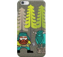 Lumberjack Attack: Paul and Babe iPhone Case/Skin