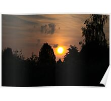 End of a beautiful spring day Poster