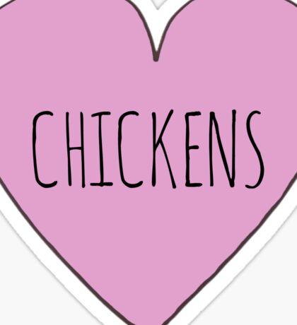 I Love Chickens Sticker