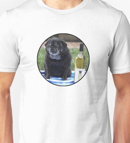 Pug and wine Unisex T-Shirt
