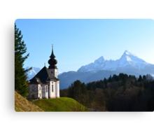 The Alpine Church Canvas Print