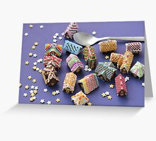 A Spoon of Gingerbread Houses Greeting Card