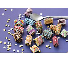A Spoon of Gingerbread Houses Photographic Print