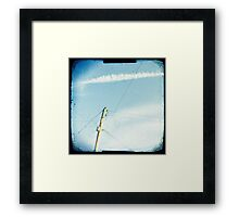 Crossed wires Framed Print