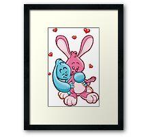 HeinyR- Bunny Love Framed Print