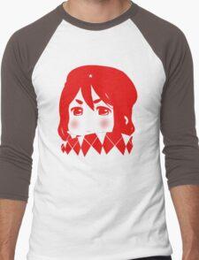 Mugi Revolution (Red Stencil) Men's Baseball ¾ T-Shirt