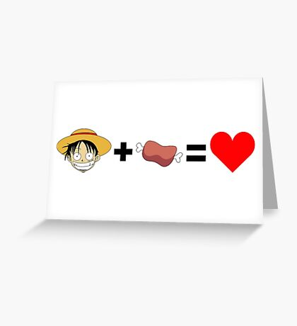 Luffy + Meat Greeting Card