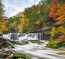 Great Falls with Great Color by Kenneth Keifer