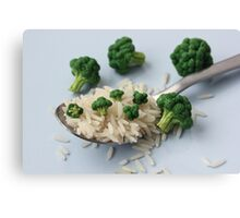 Broccoli and Rice Canvas Print