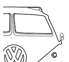 VW Bus Gregarious Photographic Print