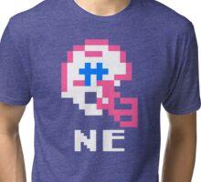 Tecmo Bowl, Tecmo Super Bowl, Tecmo Bowl Shirt, Tecmo Bowl T-shirt, Tecmo Bowl Helmet, NE Helmet, NE Tri-blend T-Shirt