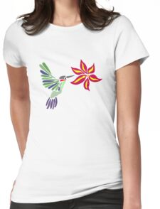 Hummingbird Abstract  Womens Fitted T-Shirt