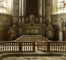 Solitary Church Sticker