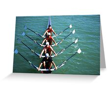 Flatwater Rowers Greeting Card