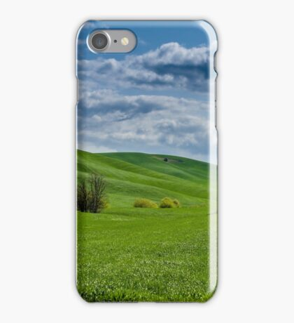 Wheat fields and stormy skies iPhone Case/Skin