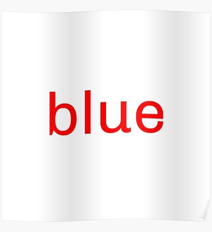 Red Blue Poster