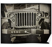Military Jeep Poster