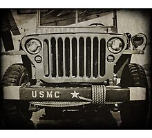 Military Jeep Photographic Print