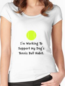 Dogs Tennis Ball Women's Fitted Scoop T-Shirt