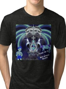 Please Try To (blue) Tri-blend T-Shirt