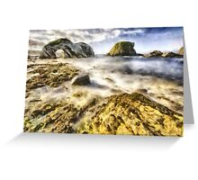 White Park Bay Sea Arch Greeting Card