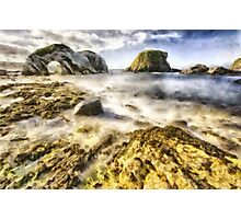 White Park Bay Sea Arch Photographic Print
