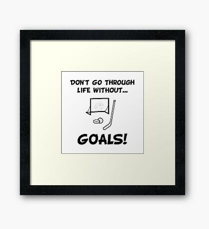 Hockey Goals Framed Print