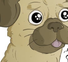 Pugs are cute Sticker