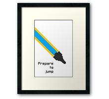 Prepare to jump (Explore) Framed Print