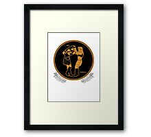 Red Figure Xena & Gabrielle Framed Print