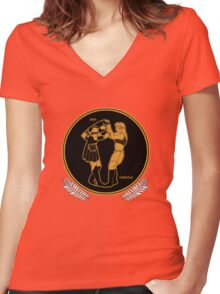 Red Figure Xena & Gabrielle Women's Fitted V-Neck T-Shirt