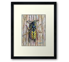 Acrylic painting, Wasp nature art Framed Print