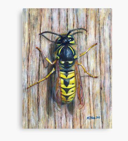 Acrylic painting, Wasp nature art Canvas Print