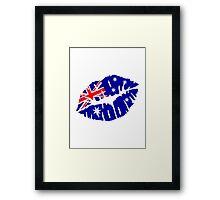 Australia kiss Framed Print