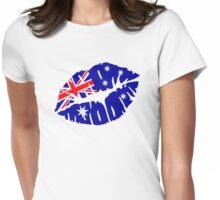 Australia kiss Womens Fitted T-Shirt