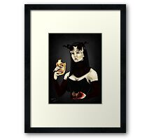 The Mask and the Heart Framed Print