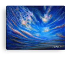 Blue, purple and orange sunset Canvas Print