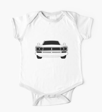 Original C10 Datsun / Nissan GTR in Black & White | Stickers and Tees  One Piece - Short Sleeve