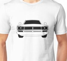 Original C10 Datsun / Nissan GTR in Black & White | Stickers and Tees  Unisex T-Shirt