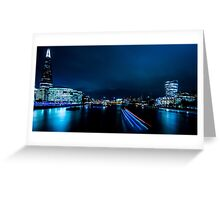 Nightscape - Blue is the Colour Greeting Card