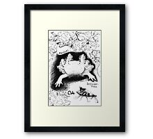funny and cute Framed Print