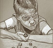 Marbles drawing by RobCrandall