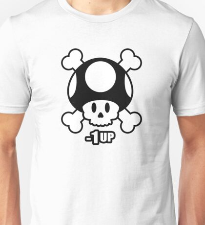 Minus 1up Toad Skull and Cross Bone Unisex T-Shirt