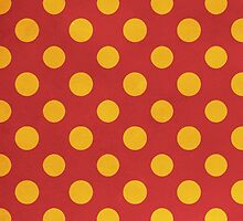 Yellow and Red Polka Dot Pattern by sale