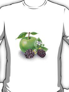 Green Apple And Blackberries T-Shirt