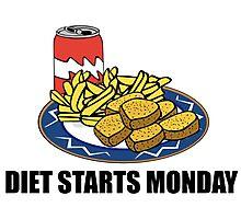 Diet Starts Monday Photographic Print