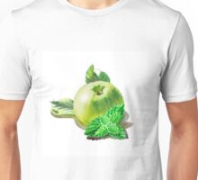 Green Apple And Mint Leaves Unisex T-Shirt